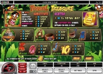 Casdep featuring the Video Slots Tribal Treasure with a maximum payout of $20,000