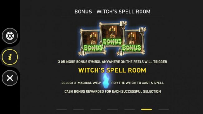 Witchs Spell Room Bonus Rules
