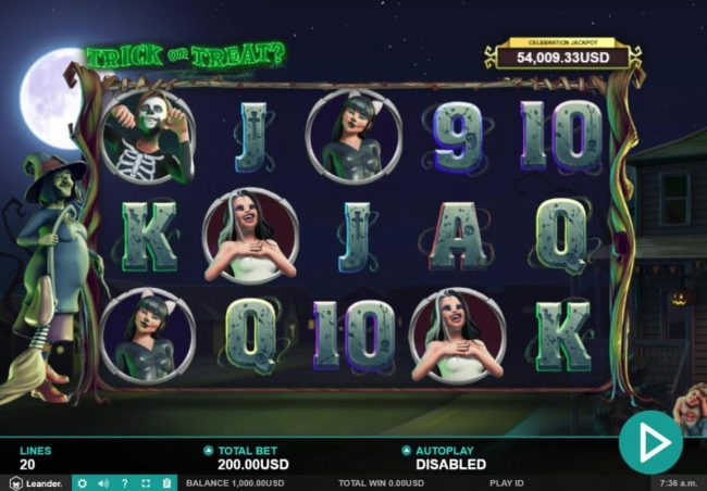 Dreamy 7 featuring the Video Slots Trick or Treat with a maximum payout of $100,000