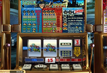 Miami Club featuring the Video Slots Trick or Treat with a maximum payout of $24,000