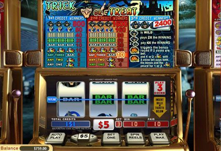 Play slots at Liberty Slots: Liberty Slots featuring the Video Slots Trick or Treat with a maximum payout of $24,000