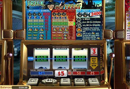 Lincoln featuring the Video Slots Trick or Treat with a maximum payout of $24,000