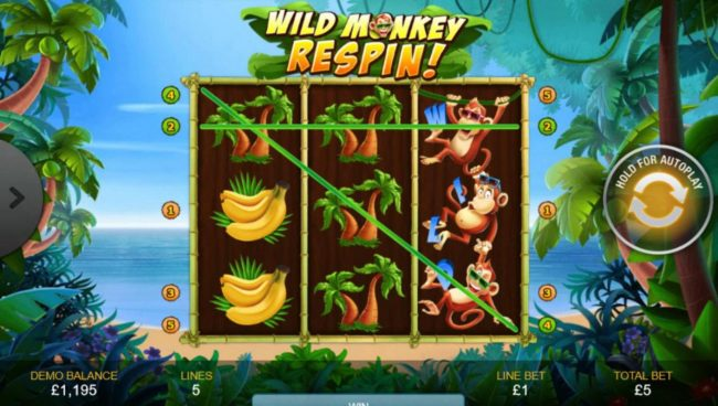 Europlay featuring the Video Slots Triple Monkey with a maximum payout of $1,000