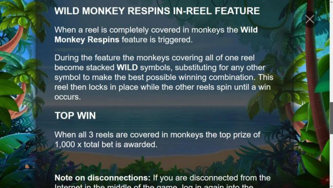 Triple Monkey :: Wild Monkey Respins in-Reel Feature Rules