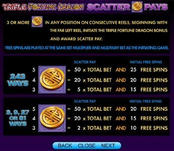 Triple Fortune Dragon :: scatter pays