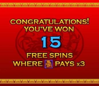 Triple Fortune Dragon :: 15 free spins