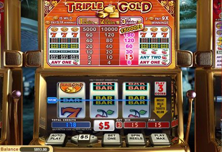 Red Stag featuring the Video Slots Triple Gold with a maximum payout of $450,000