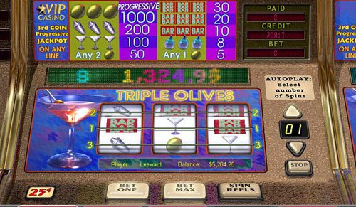 Fruity Vegas featuring the video-Slots Triple Olives with a maximum payout of Jackpot