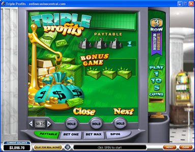 Grand Reef featuring the Video Slots Triple Profits with a maximum payout of $25,000