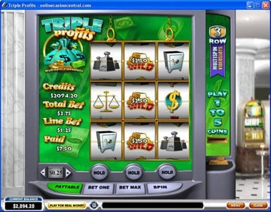 LesA Casino featuring the Video Slots Triple Profits with a maximum payout of $25,000