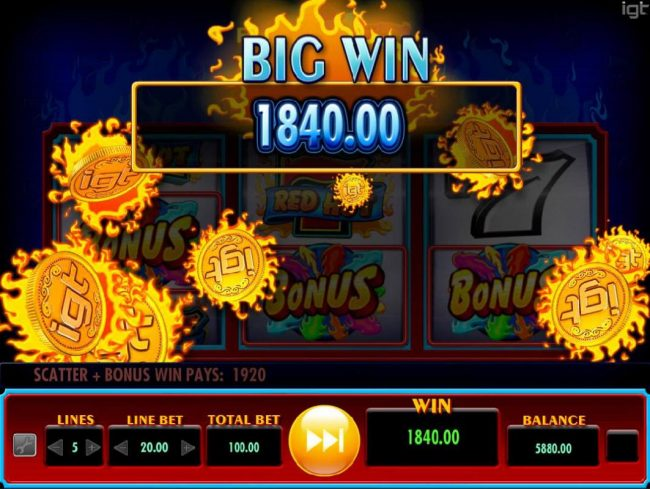 Ca Ching! A 1,840.00 Big Win Awarded.