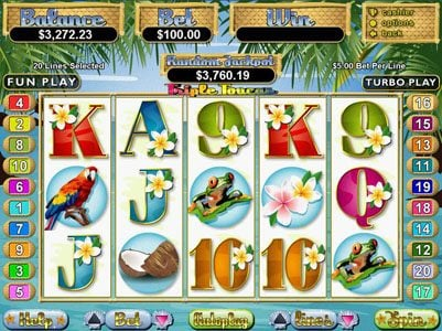 Play slots at Saturn: Saturn featuring the Video Slots Triple Toucan with a maximum payout of $250,000