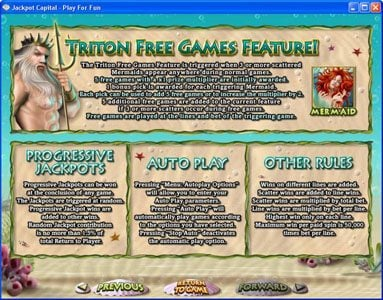 Casino Superlines featuring the Video Slots Triton's Treasure with a maximum payout of 3333x