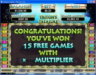 Malina featuring the Video Slots Triton's Treasure with a maximum payout of 3333x