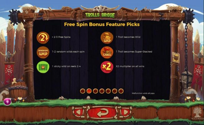 Intercasino featuring the Video Slots Trolls Bridge with a maximum payout of $10,000