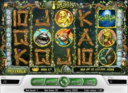 Winner Million featuring the Video Slots Trolls with a maximum payout of $40,000