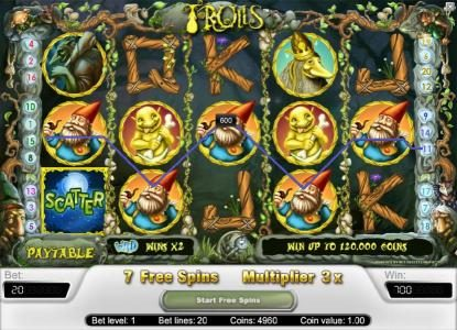 14 Red Casino featuring the Video Slots Trolls with a maximum payout of $40,000
