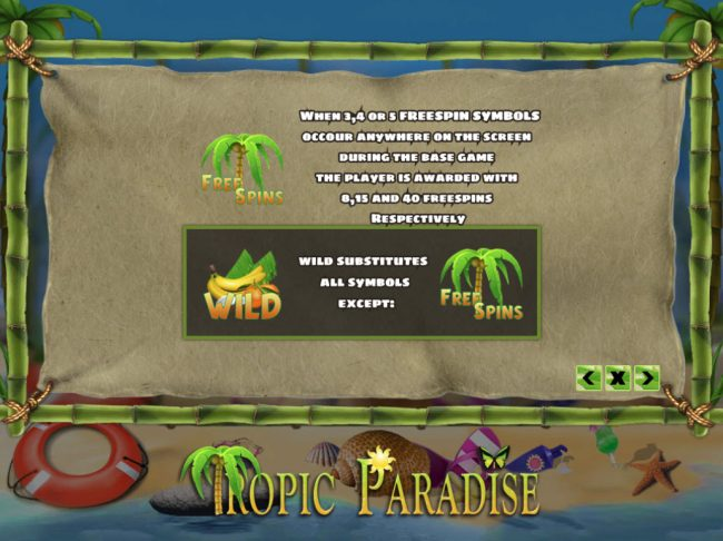 Venetian featuring the Video Slots Tropic Paradise with a maximum payout of $24,000