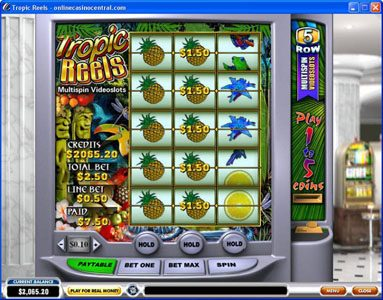 Club Vulkan featuring the Video Slots Tropic Reels with a maximum payout of $62,500