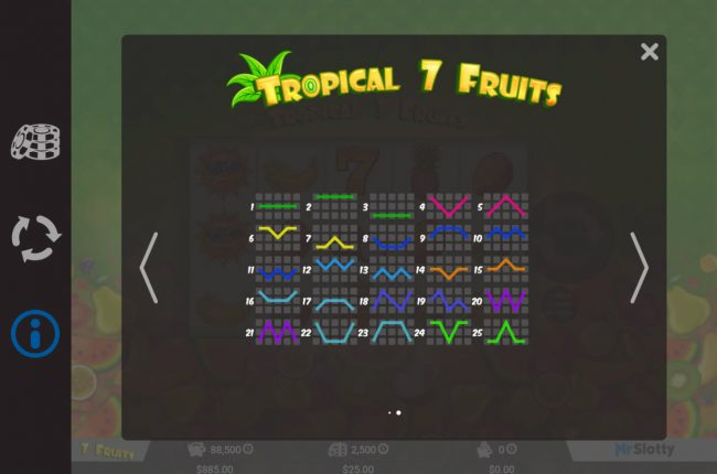 Spintropolis featuring the Video Slots Tropical 7 Fruits with a maximum payout of $50,000