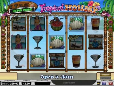 Vegas Hero featuring the Video Slots Tropical Holiday with a maximum payout of Jackpot
