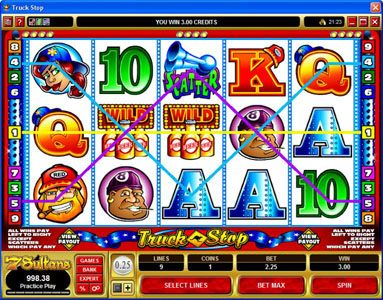 Challenge featuring the Video Slots Truck Stop with a maximum payout of $2,000