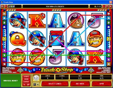 CasinoUK featuring the Video Slots Truck Stop with a maximum payout of $2,000