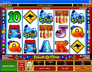 Golden Reef featuring the Video Slots Truck Stop with a maximum payout of $2,000
