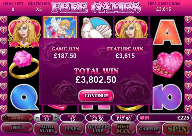 Casino Plex featuring the Video Slots True Love with a maximum payout of $500,000