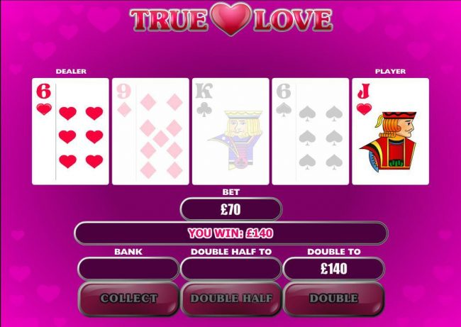 City Tower featuring the Video Slots True Love with a maximum payout of $500,000