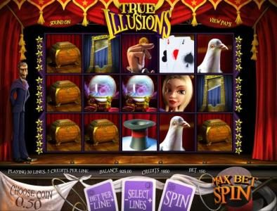 Play slots at 7Kasino: 7Kasino featuring the Video Slots True Illusions 3D with a maximum payout of $3,750