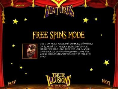 Slots Jackpot featuring the Video Slots True Illusions 3D with a maximum payout of $3,750