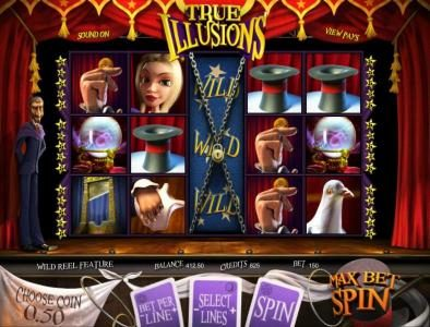 24 Vip featuring the Video Slots True Illusions 3D with a maximum payout of $3,750