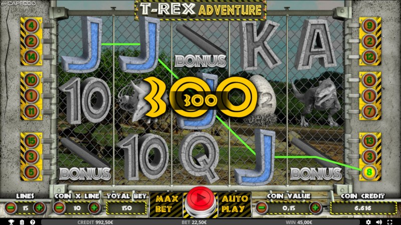 T-Rex Adventure :: Four of a kind