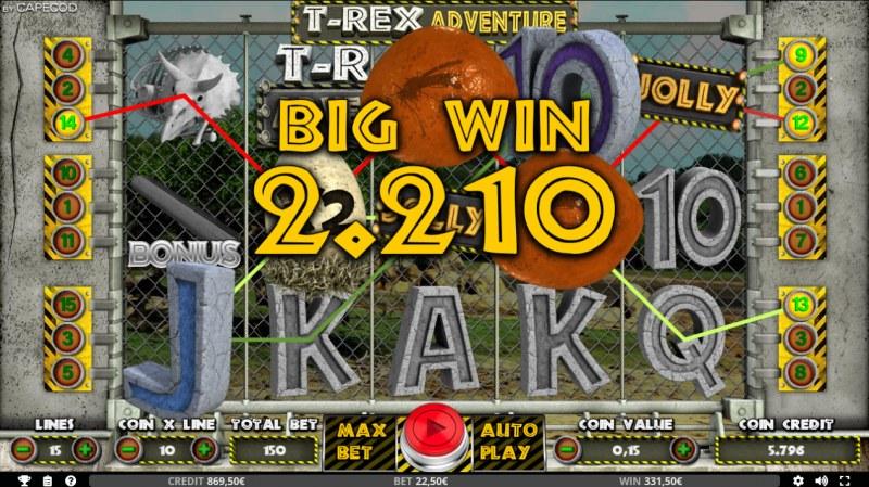 T-Rex Adventure :: Big Win