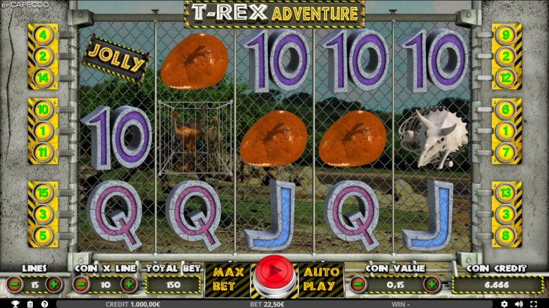 T-Rex Adventure :: Main Game Board