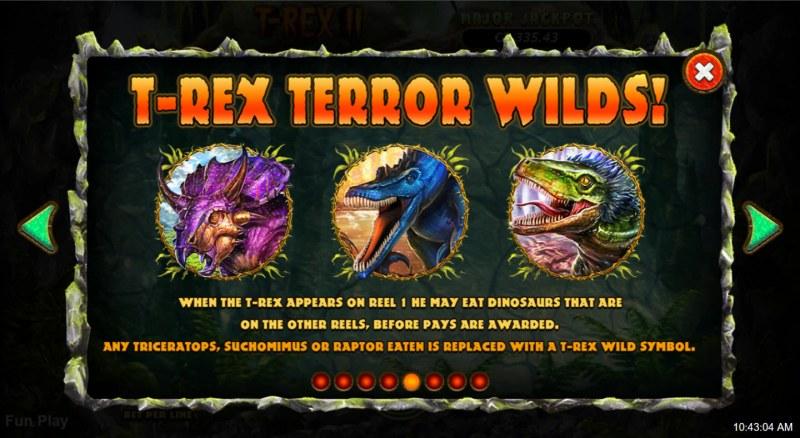 T-Rex II :: Wild Symbol Rules