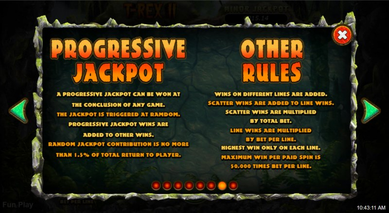 T-Rex II :: General Game Rules