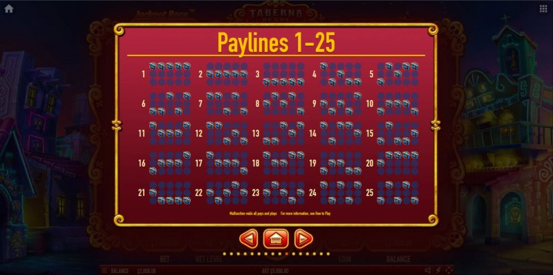 Taberna De Los Muertos Ultra :: Paylines 1-25