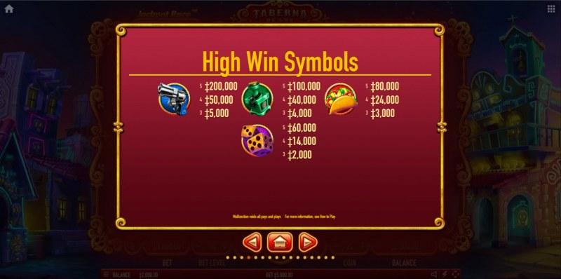 Taberna De Los Muertos Ultra :: Paytable - High Value Symbols