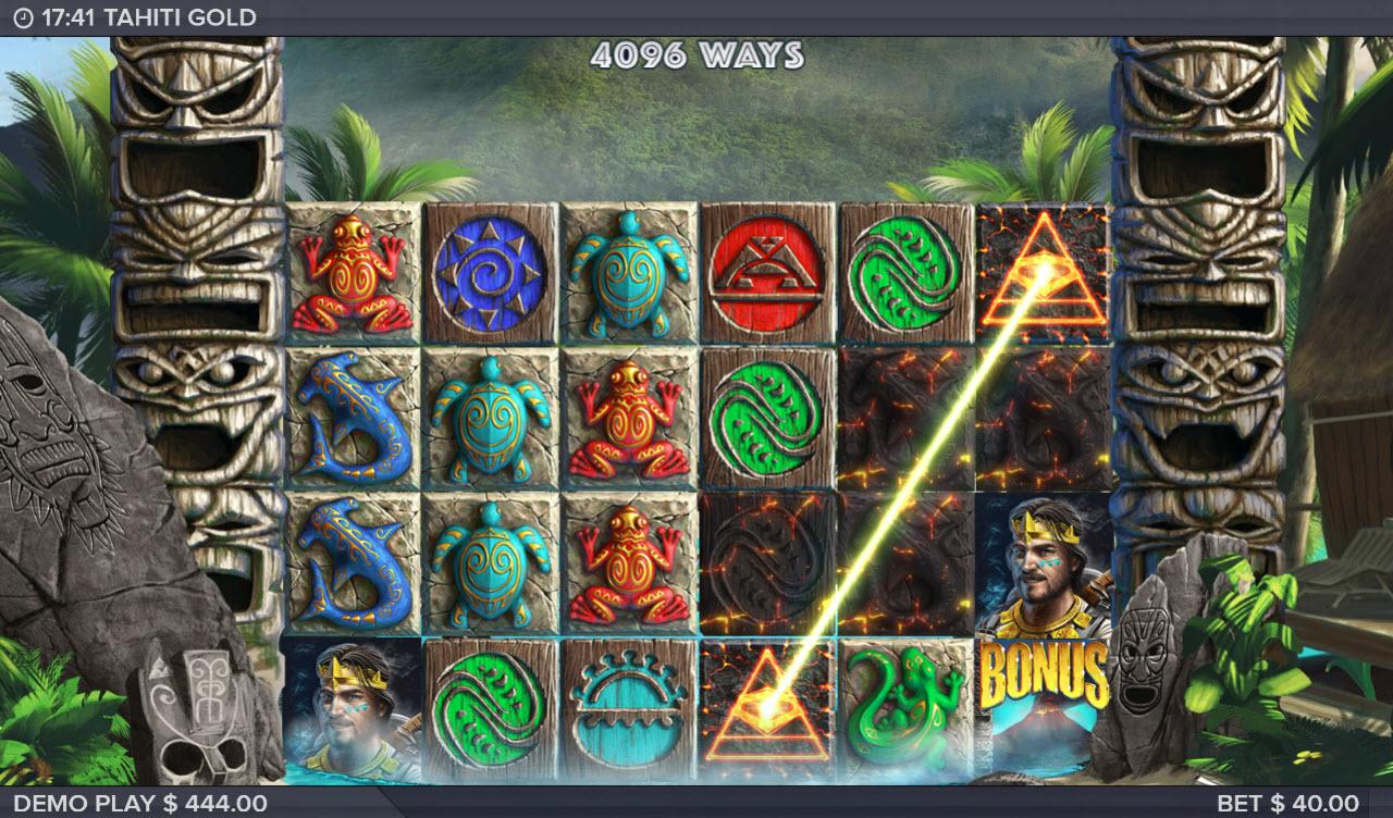 Play slots at TS: TS featuring the Video Slots Tahiti Gold with a maximum payout of $500,000