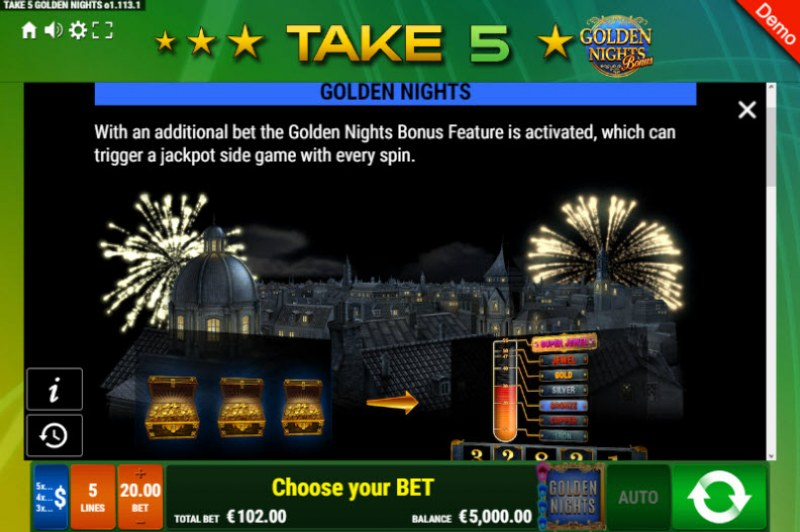 Take 5 Golden Nights Bonus :: Golden Nights Bonus