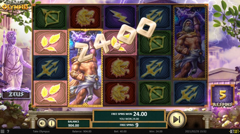 Take Olympus :: Free Spins Game Board