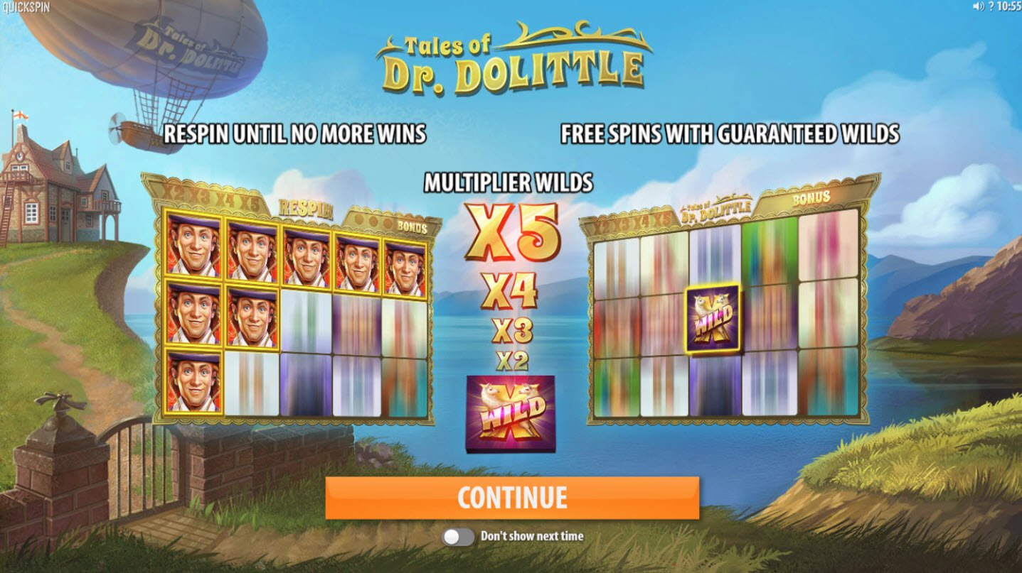 Play slots at Miami Dice: Miami Dice featuring the Video Slots Tales of Dr. Dolittle with a maximum payout of $8,000