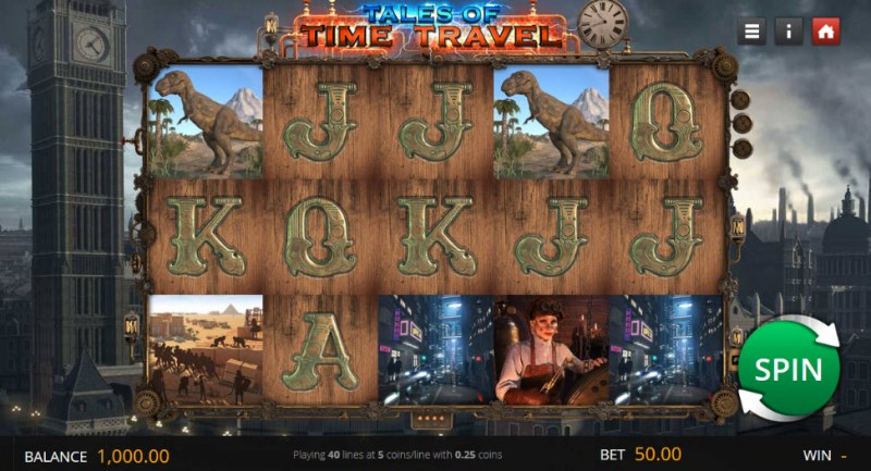 Tales of Time Travel :: Main Game Board