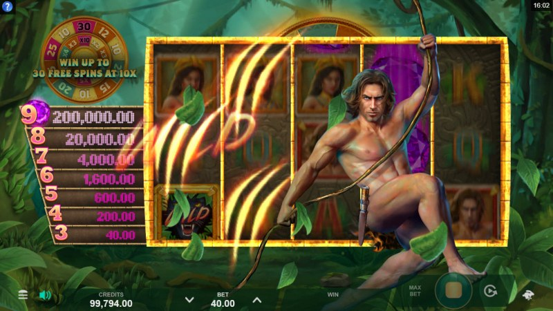 Tarzan and the Jewels of Opar :: Random Wilds feature triggers randomly