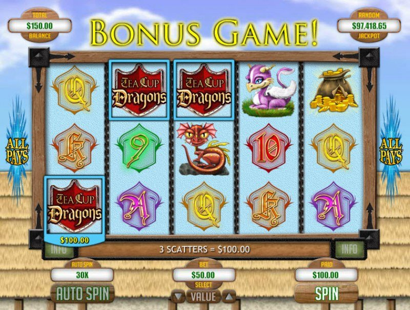 Play slots at Club Player: Club Player featuring the Video Slots Tea Cup Dragons with a maximum payout of $1,250
