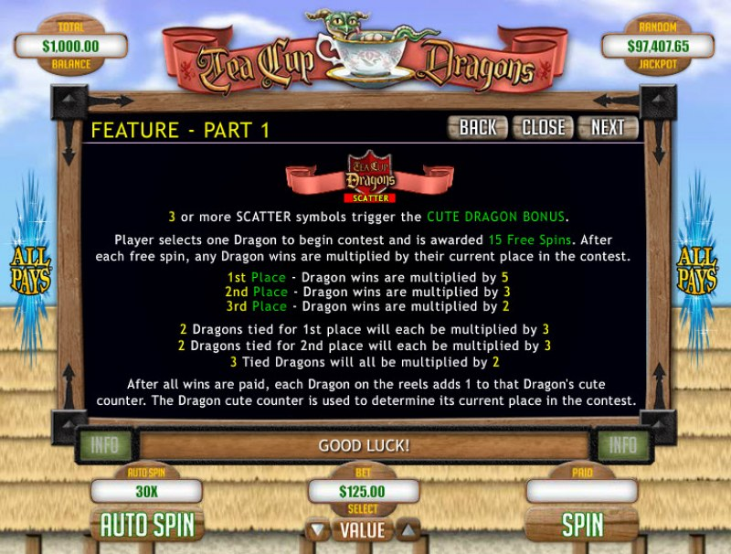 Tea Cup Dragons :: Feature Rules
