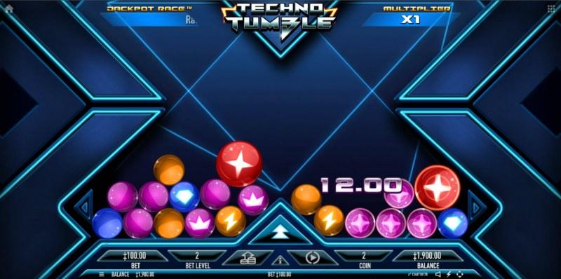 Techno Tumble :: Cluster Win
