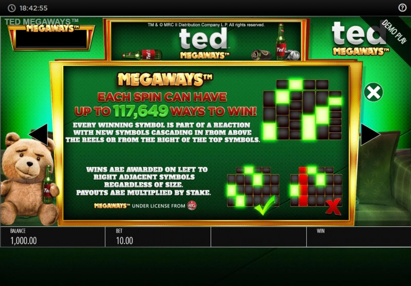 Ted Megaways :: Up to 117649 Megaways